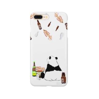 晩酌パンダ🐼🍺♥iPhoneケース Smartphone cases