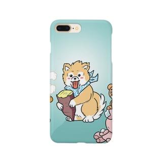 ポメラニアン丸くん Smartphone cases