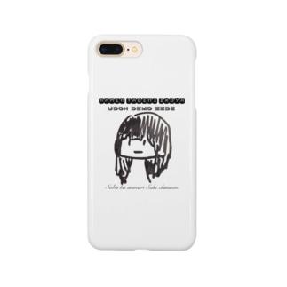 私と麺を食べようよ。 Smartphone cases