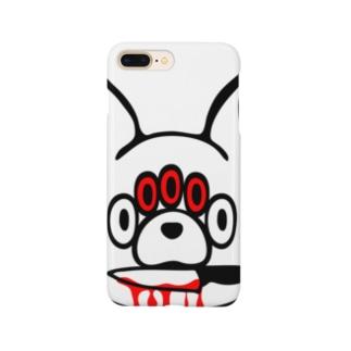 key.のエキセントリックアニマル  うさぎ Smartphone cases