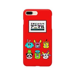 key.のエキセントリックアニマル 赤電話 Smartphone cases