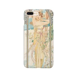 四つの時の流れ-昼の輝き(1899)ミュシャ Smartphone cases