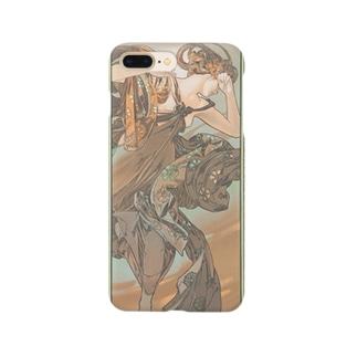 四つの星-宵の明星(1902)ミュシャ Smartphone cases