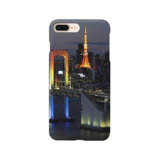 Tokyo Tower and Rainbow Bridge Smartphone cases