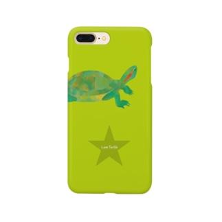 Love Turtle Star ライム スマートフォンケース