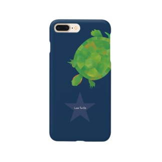 Love Turtle Star ネイビー スマートフォンケース