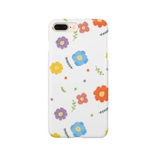 カラフルフラワー Smartphone cases