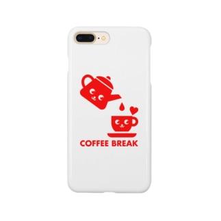 コーヒーブレイク(Red) Smartphone cases