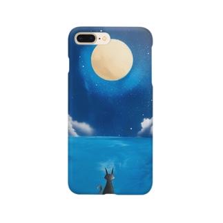 満月の下の猫 Smartphone cases