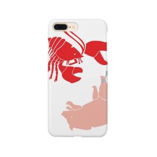 ロブスター&ブタでロブストン Smartphone cases