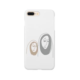 かわいそうなものを見るふたり Smartphone cases
