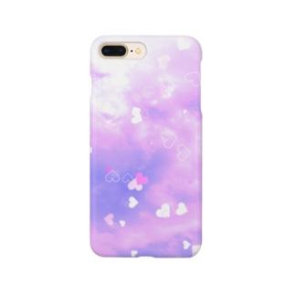 ピンクハート Smartphone cases