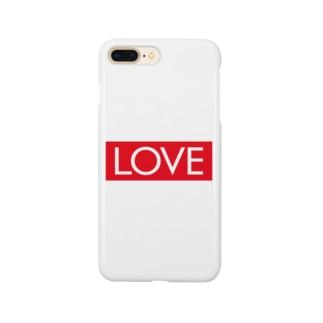 LOVE 赤ラベル Smartphone cases