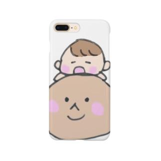 日焼けアザラシと赤ちゃん Smartphone cases