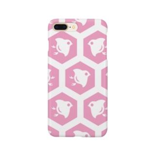 ウォレットケース専用デザイン 千鳥ピンク Smartphone cases