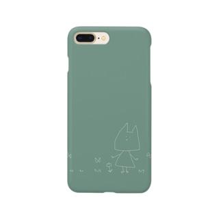 ねことチューリップ Smartphone cases