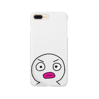 真っ白いヤツ! Smartphone cases