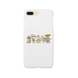 ROBOBO「全員集合!」スチームパンク   猫 犬 鳥 うさぎ Smartphone cases