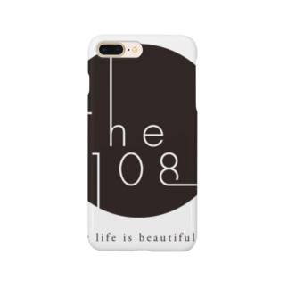 The108.ロゴグッツ(黒丸) スマートフォンケース