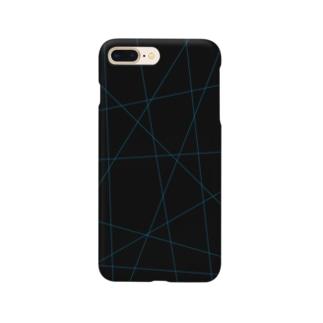 レーザービーム青 Smartphone cases