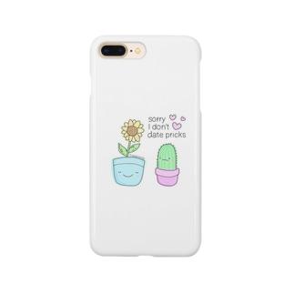 サボテンとひまわりちゃん🌻iPhoneケース🎀 Smartphone cases