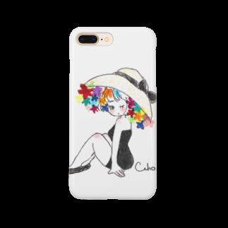Cahoの帽子の女の子 Smartphone cases