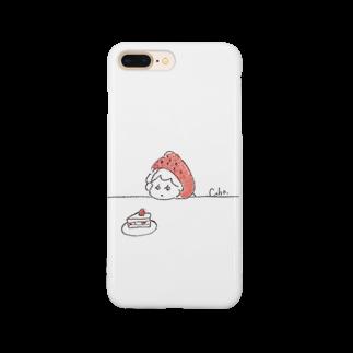 Cahoのケーキを見るいちご Smartphone cases