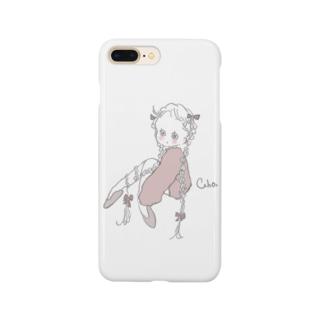 くすみピンクな女の子 Smartphone cases