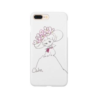 線画な女の子 Smartphone cases
