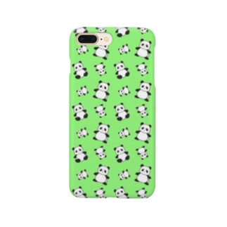 パンダがいっぱい!(グリーン) スマートフォンケース