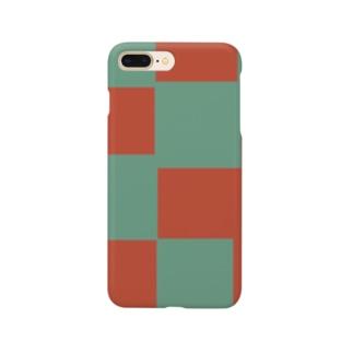 赤と青 Smartphone cases