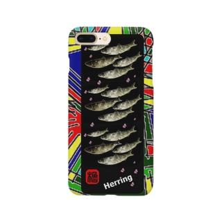 ニシン(春告魚;HERRING)(鰊の魚拓から始まる縁) ※価格は予告なく改定される場合がございます。 Smartphone cases