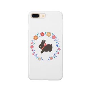 黒ウサギ スマートフォンケース