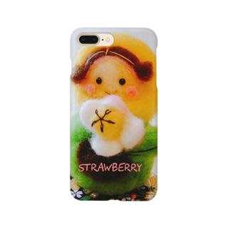 羊毛マスコットのマトリョーシカ『チューリップ🌷ちゃん』 Smartphone cases
