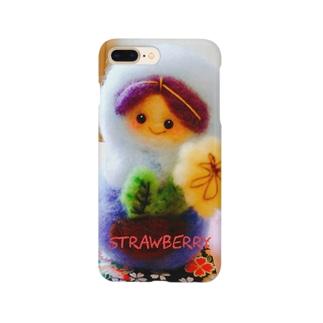 羊毛マスコットのマトリョーシカ『たんぽぽちゃん』 Smartphone cases