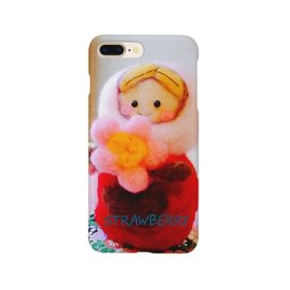 羊毛マスコットのマトリョーシカ『桜🌸ちゃん』 Smartphone cases