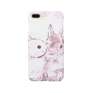 うさぎ【桜】 Smartphone cases