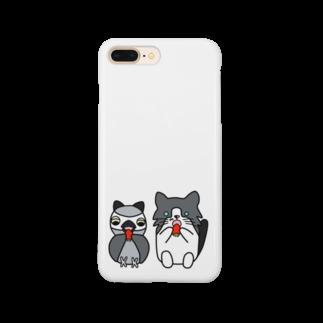 ねこぜや のみーニャンと福ニャン Smartphone cases