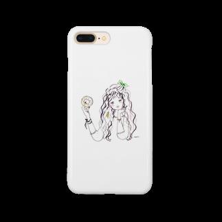 _m.o.m.i._のおやつ誘惑ガール Smartphone cases