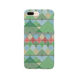 山と川、そしてリンゴ。 Smartphone cases