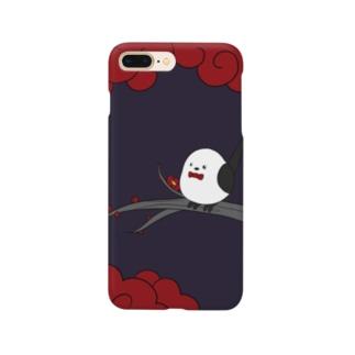花札「梅とナガオくん」紫 スマートフォンケース
