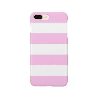 Border Stripe (Pink) スマートフォンケース