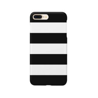 Border Stripe (Black) スマートフォンケース