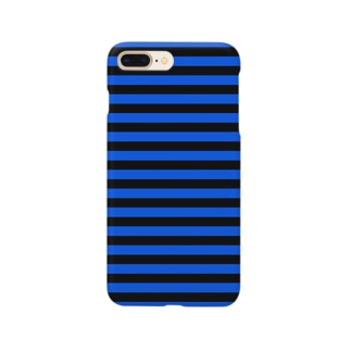 Border Stripe (Black × Blue) Smartphone cases
