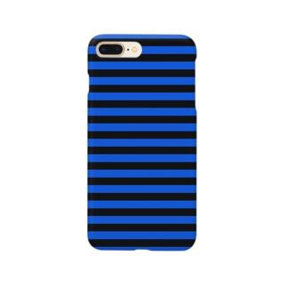 Border Stripe (Black × Blue) Smartphone cases