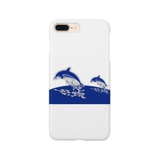 親子のドルフィンジャンプ! Smartphone cases
