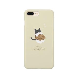 お昼寝 たい焼き&ネコ Smartphone cases