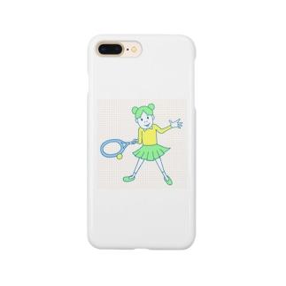 庭球ピコちゃんカラー Smartphone cases