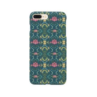 植物のパターンデザイン Smartphone cases