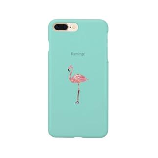 ぽりごんなフラミンゴ Smartphone cases